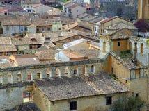 Village of Berlanga de Duero. View of the rooftops of Berlanga de Duero, from its castle Royalty Free Stock Images