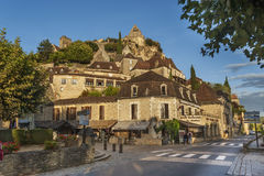 Village of Beynac in Dordogne, France. France, the picturesque village of Beynac in Dordogne with the 12th century castle dominating the town Stock Photography