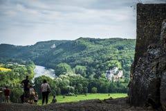 Village of Beynac-et-Cazenac at Dordogne Valley France Stock Photo