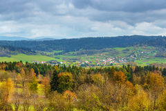 The village in the Bieszczady Mountains Stock Image