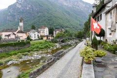 The village of Bignasco on Magga valley Stock Photos