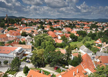 Village from bird's view Royalty Free Stock Photo