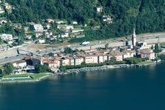 The village of Bissone on lake Lugano Royalty Free Stock Photos
