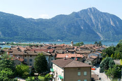 The village of Bissone on lake Lugano Royalty Free Stock Photo