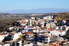 Village blanc, Loja, Andalousie, Espagne. Photographie stock libre de droits