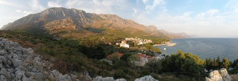Village Blato on Makarska riviera in Croatia Royalty Free Stock Image