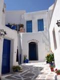 Village bleu et blanc Image libre de droits