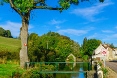 The village Bligny-sur-Ouche, in Cote dOr, Burgundy Stock Image