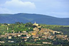 Village of Bonnieux in France. The beautiful village of Bonnieux in the Vaucluse France at sunset Stock Photography