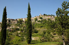Village of Bonnieux in Provence Royalty Free Stock Photo
