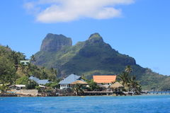 Village on Bora Bora Royalty Free Stock Images