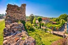 Village of Borghetto on Mincio river view. Veneto region of Italy Royalty Free Stock Photos