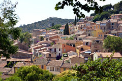 Village of Bormes-les-Mimosas in France Royalty Free Stock Photos