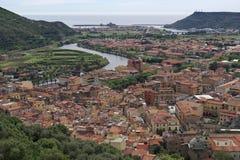 The village of Bosa, Sardinia Royalty Free Stock Photo