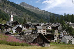 The village of Bosco Gurin Royalty Free Stock Photo