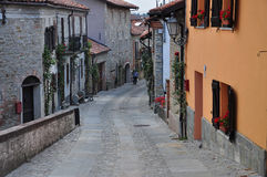 Village of Bossolasco, Langhe, South Piemonte, Italy Stock Images