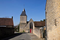 Village of Bourg le Roi in France Stock Images