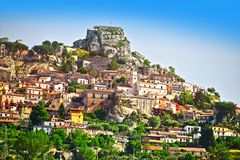 The village of Bova in the Province of Reggio Calabria, Italy.  royalty free stock images