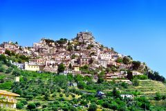 The village of Bova in the Province of Reggio Calabria, Italy.  stock photos