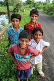 Village boys smiling royalty free stock photography