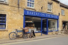 Village bread shop, Bourton on the Water. Royalty Free Stock Photo