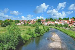 Breitungen,Werra River,thuringian Forest,Germany Stock Image