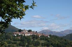 The village of Breno on Malcantone valley Stock Photo