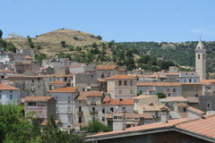 The village of Britti on the island of Sardinia Stock Photos