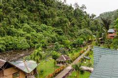 The village of Bukit Lawang in Sumatra, Indonesia Stock Images