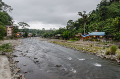 The village of Bukit Lawang in Sumatra, Indonesia Stock Photo