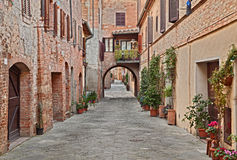 The village Buonconvento in Siena, Tuscany, Italy Stock Images