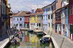 Village of Burano in Italy Stock Photography