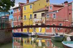 Village of Burano in Italy Stock Image