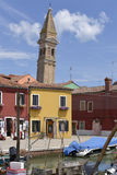 Village of Burano in Italy Stock Images