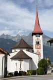 The village of Burglen on the Swiss alps. Burglen, Switzerland - 3 August 2017: the village of Burglen on canton Uri in the Swiss alps Stock Photos