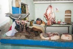 Village butchery. Royalty Free Stock Photos