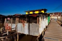 Village célèbre de l'eau du Brunei images libres de droits