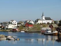 Village côtier, Norvège Photographie stock