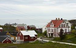 Village côtier norvégien Images libres de droits