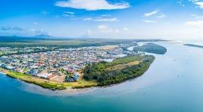 Village côtier pittoresque en Nouvelle-Galles du Sud photo libre de droits