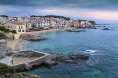 Village côtier de Barcelone, Espagne Image stock
