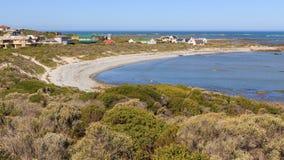 Village côtier de Suiderstrand photos stock