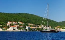 Village côtier grec   photos stock