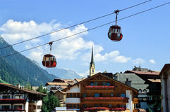 Village Cable Car Stock Image