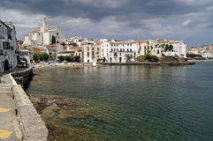 Village of Cadaques in Alt Emporda, Costa Brava, Girona provinc Royalty Free Stock Photography