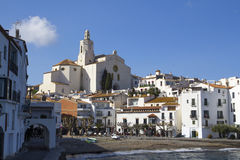 Village of Cadaques, Catalonia, Spain Stock Image