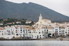 The village of Cadaques on the Costa Brava royalty free stock photo