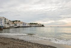 The village of Cadaques on the Costa Brava. Girona Royalty Free Stock Photo