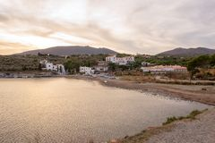 The village of Cadaques on the Costa Brava. Girona Stock Images