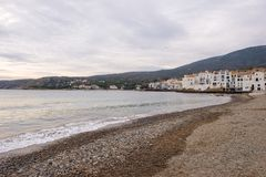 The village of Cadaques on the Costa Brava. Girona Royalty Free Stock Image